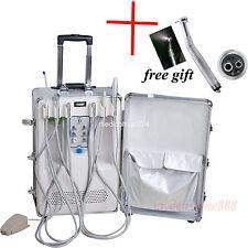 Mobile Dental turbine unit & Curing Light Ultrasonic Scaler +1 LED handpiece 4H