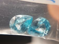Natural blue Zircon 2.72ct combined pear faceted gemstones