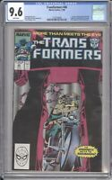 Marvel Comics TRANSFORMERS #46 CGC 9.6 NM (1988) White Pages