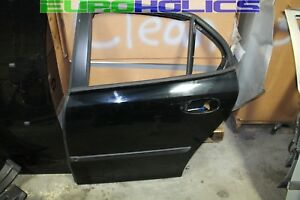 OEM SAAB 9-3 03-07 Sedan Left Rear Driver Side Door Shell BLACK 170