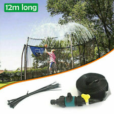 12M Trampoline Sprinkler Spray Water Park Kid Fun Summer Outdoor Water Game GR