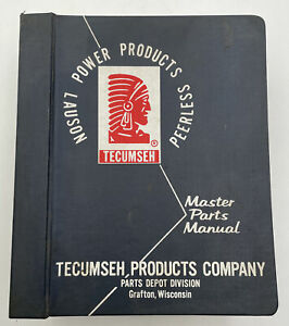 Vintage Tecumseh Engines Lauson Power Products Master Parts Manual 1960s 1970s