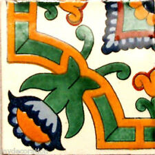 C#068) MEXICAN TILES CERAMIC HAND MADE SPANISH INFLUENCE TALAVERA MOSAIC ART