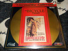 The Bicycle Thief CinemaDisc Laserdisc Ld Free Ship $30 Orders