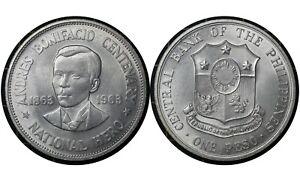 1 Peso 2006 Philippines 🇵🇭Silver Coin // National Hero Andres Bonifacio # 193