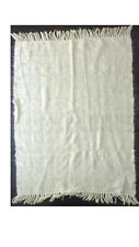 """Beige and Ivory throw shawl 38"""" x 50"""""""