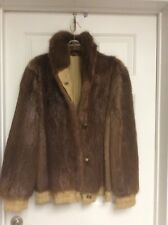 mens nutria fur reversible jacket