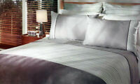 Morse Duvet Doona | Quilt Cover Set | Faux Suede | Corded Piping Trim | King