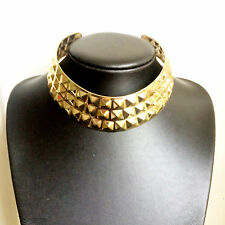 Gold Studded Chunky Choker Necklace Bling Bling Hip Hop