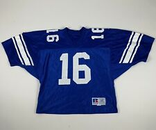 Vintage 1990s Russell Crop Mesh Jersey Sz 46 Blue/White Mens