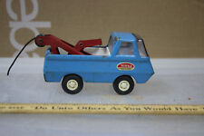 Vintage 60's Mini Tonka TOW Truck RED WHITE & BLUE WOW  JSH