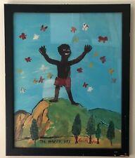 Outsider Folk Art The Happy Day Leon M. 1960