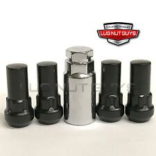 "Lug Wheel Lock Nuts Black 9/16-18 Bulge Acorn Locking Lugs 1.9"" Tall"