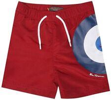 110cm Height Ben Sherman Boys Target Logo Swim Shorts Navy Size 5-6 Years