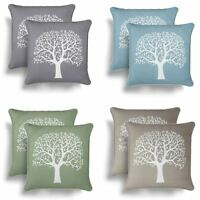 """Set of 2 Glenmore Cushion Covers Modern Tree Print Cover Pairs 18"""" x 18"""""""