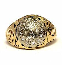 14k yellow gold .19ct VS1 G mens pinky diamond ring vintage 3.8g gents