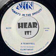 LA Cajun Blue Eyed Soul Swamp Pop 45 CLINT WEST A Tear / Its No Use JIN hear