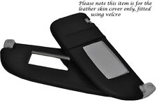 BLACK STITCHING FITS PEUGEOT 206 98-10 2X SUN VISORS LEATHER COVERS ONLY