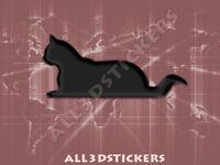Pegatina Gato 3D Relieve - Color Negro