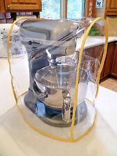 Yellow Trimmed CLEAR MIXER COVER fits KitchenAid Bowl Lift Mixer  - (5-6 Qt.)