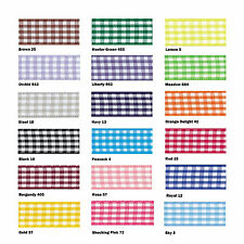 Gingham Ribbon 18 Colours 5 Widths 3 Lengths by Berisfords Steel #18 10mm X 1mtr