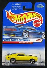 1998  Hot Wheels  First Editions Yellow Mustang Mach 1  Card #670  HW-2
