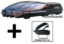 BOX AUTO FARAD MARLIN F3 N7 680LT NERO LUCIDO - BAULE PORTABAGAGLI TETTO