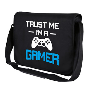 Trust Me I'M A Gamer Gaming Player Geek Nerd Motif Shoulder Bag Messenger Bag