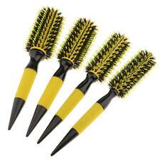 """Hair Brush Natural Wood Styling Round Hairbrush Nylon Bristle 1.8"""" 2.2"""" 2.4"""""""