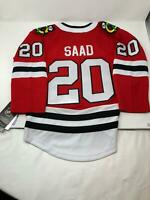 NHL Youth Chicago Blackhawks #20 Saad Stitched Jersey Kids Size S/M