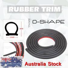 3M 10ft D-Type Moulding Trim Rubber Strip Car Door Scratch Protector Edge Cover