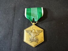 Military Medal With Ribbon For Military Merit Green And White Eagle Design