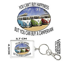 CAMPERVAN GIFT KEYRING You Can't Buy Happiness But You Can Buy A Campervan