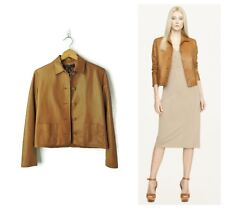 Ralph Lauren Black Label Women's Brown Leather Heida Jacket Blazer size 4 $2798