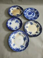Antique Vintage Mixed Brand Lot of Plates AS IS Larger One Measured 6 5/8'' W