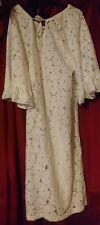 LOVE BY GAP WHITE CROCHET PJS LOUNGE SUMMER NIGHT DRESS XS S BELL SLEEVES NEW