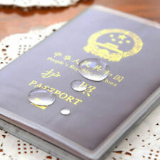 Plastic Clear Transparent Passport Cover Holder ID Card Protector T2P7