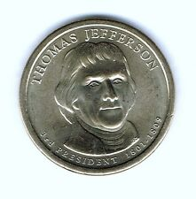 2007-P $1 Jefferson Brilliant Uncirculated 3RD Presidential  Dollar Coin!