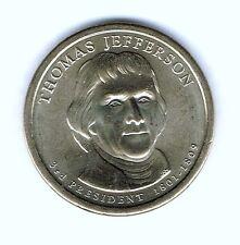 2007-D $1 Jefferson Brilliant Uncirculated 3RD Presidential  Dollar Coin!