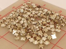 144 vintage square mirror montees sew-on glass stones 5mm flat clear silver