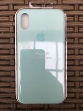 Authentic Silicone Case For Apple IPhone X / XS Genuine Marine Green Cover