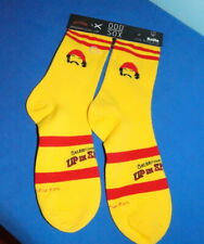 Cheech & Chong Crew Socks Men's Size 6-13 Yellow+Red Up In Smoke $12.50 Free/Sh