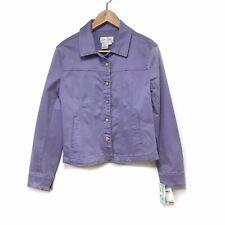 Live A Little Denim Stretch Jacket - Light Purple - Small