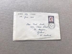 Sarawak 1955 FDC + QEII #SG198 +Kuching to Gisbane NZ + 06/01/1955 CDS