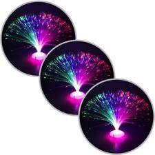 3x Glasfaserlampe UFO Glasfaser-Lampe Leuchtfaserlampe Retrolampe Dekolampe 30cm