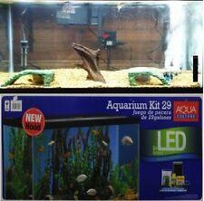 29 Gallon LED Aquarium Deluxe Kit Complete Set Fish Tank Tetra Food Filter Glass