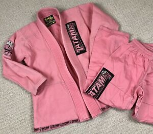 Tatami Kids Fightwear Hippo Animal Pink Girls Size M-1 Top And Pants