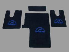 Fußmatten MAN  TGX TGS XXL XL breites Fahrerhaus VELOUR SW/Blau