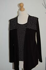 Lovely 'Fosby'  Ladies Black/White Top Size 12 BNWT (DD5)