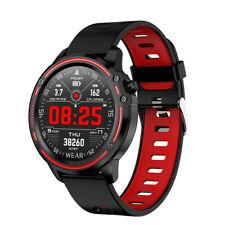 IP68 Wasserdicht Smartwatch Sportuhr Blutdruck Tracker Armband Pulsuhr Rot DPD
